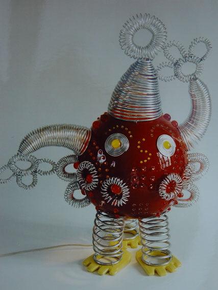Sculpture lumineuse contemporaine