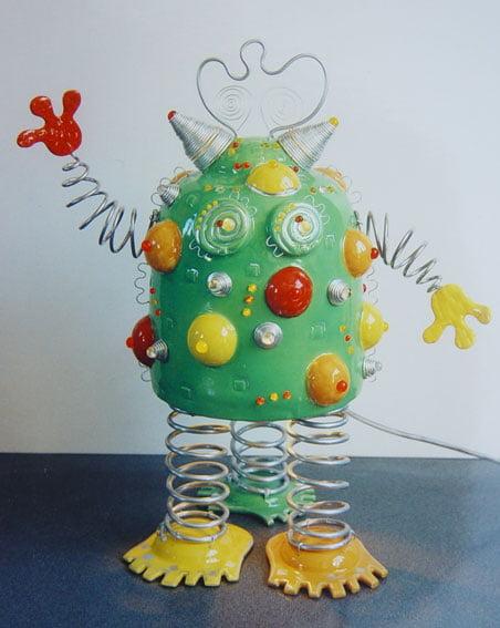 Sculpture robot contemporaine