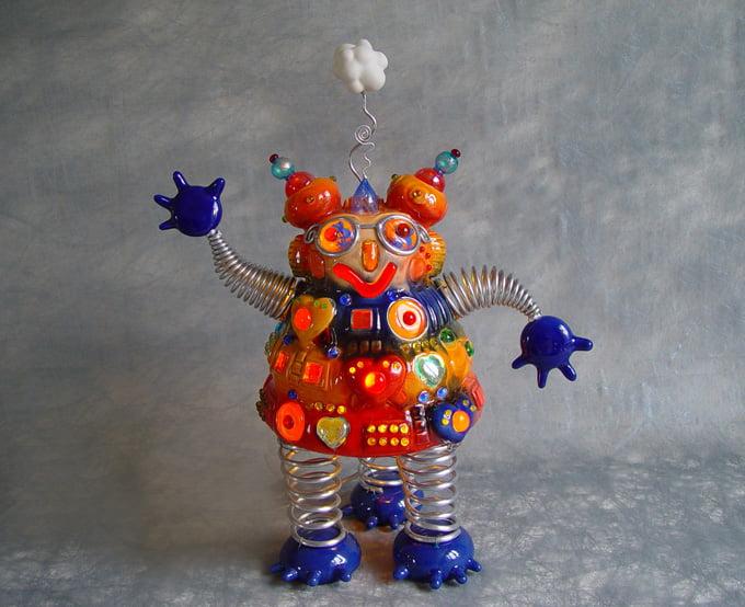 Sculpture contemporaine titre Globule