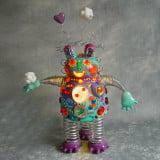 Sculpture robot lumineuse