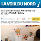 art to be gallery article de presse sur Arthuis