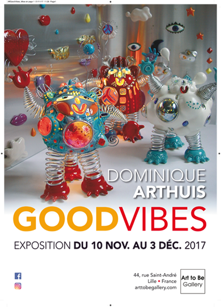 Du 10/11 au 03/12/2017 à la galerie Art to Be